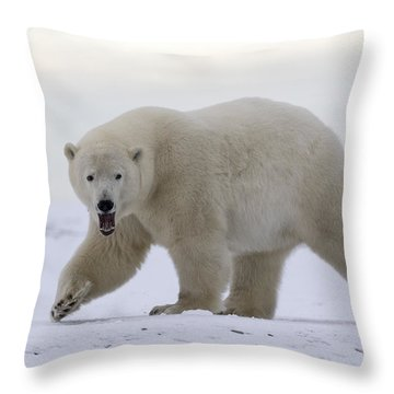 Stepping Out In The Arctic Throw Pillow