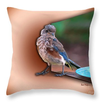 Throw Pillow featuring the digital art Stepping Out Into The Spotlight by Sue Melvin