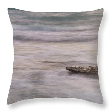 Throw Pillow featuring the photograph Stepping Stone by Alex Lapidus
