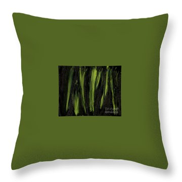 Stepping Through Mens Blades Of Mars Throw Pillow