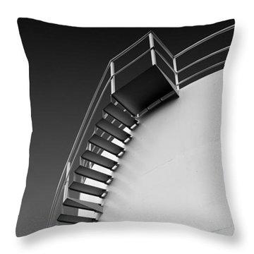 Throw Pillow featuring the photograph Stepping Up by Joe Bonita