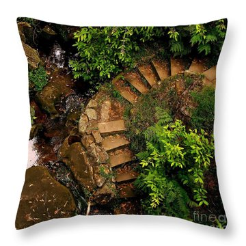 Steps Leading Up The Stairway To Heaven Throw Pillow by Blair Stuart