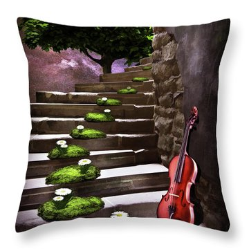 Steps Of Happiness Throw Pillow by Mihaela Pater