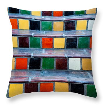 Steps One Throw Pillow