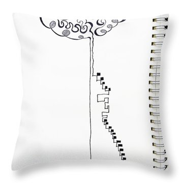 Steps To The Clouds Throw Pillow