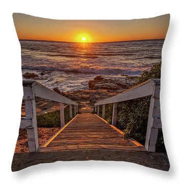 Steps To The Sun  Throw Pillow by Peter Tellone