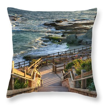 Steps To Treasure Island Beach Throw Pillow