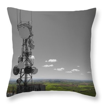 Steptoe Butte Overlooking The Palouse - Eastern Washington State Throw Pillow by Daniel Hagerman