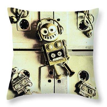 Stereo Robotics Art Throw Pillow