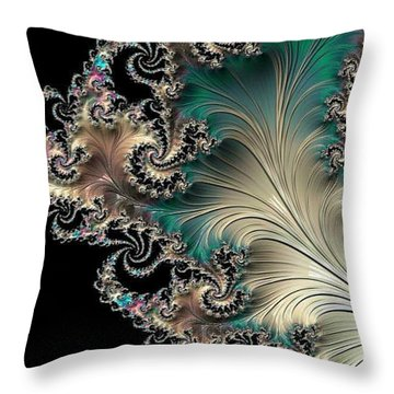 Sterling Feather Throw Pillow