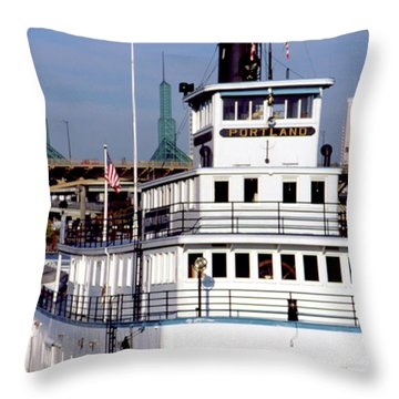 Sternwheeler, Portland Or  Throw Pillow