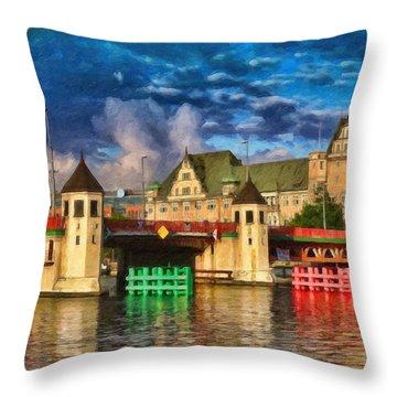 Stettin Bridge - Pol890431 Throw Pillow