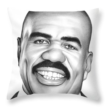 Steve Harvey Throw Pillow