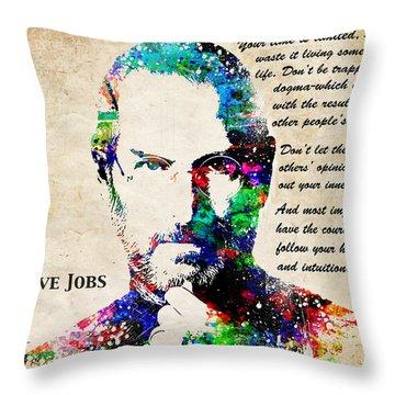 Steve Jobs Portrait Throw Pillow