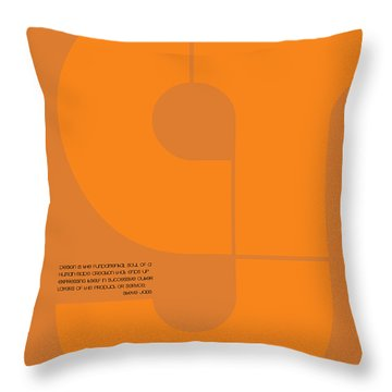 Steve Jobs Quote Poster Throw Pillow