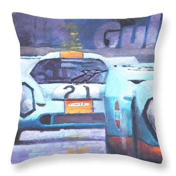 Steve Mcqueen Le Mans Porsche 917 01 Throw Pillow