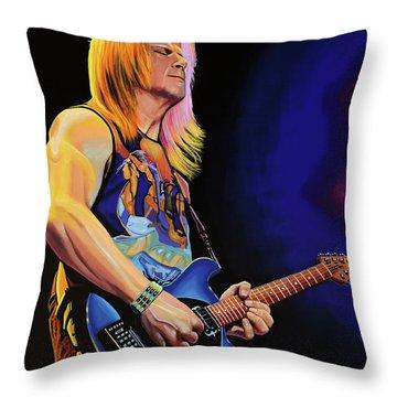 Steve Morse Painting Throw Pillow