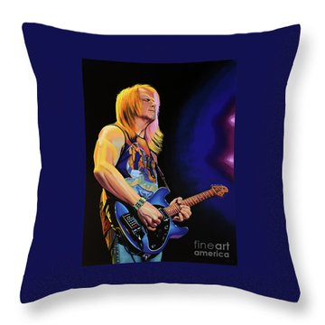 Steve Morse Painting Throw Pillow by Paul Meijering