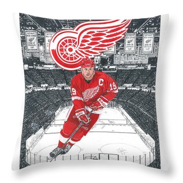 Steve Yzerman  Throw Pillow