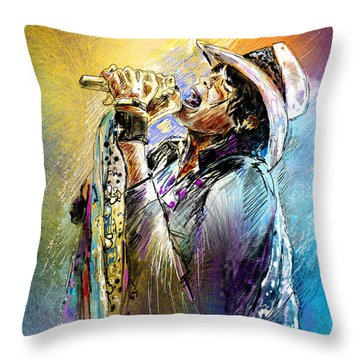 Steven Tyler 01  Aerosmith Throw Pillow