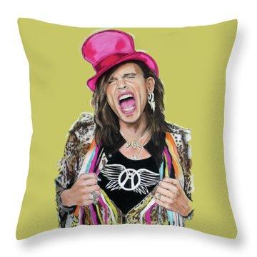 Steven Tyler 2 Throw Pillow