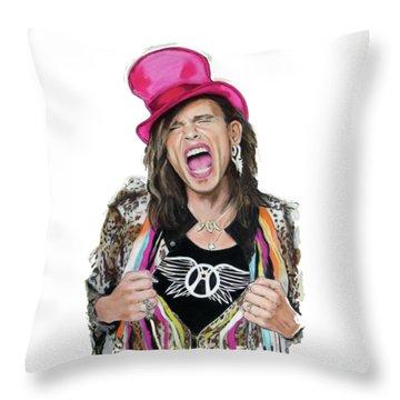 Steven Tyler 2 Throw Pillow by Melanie D