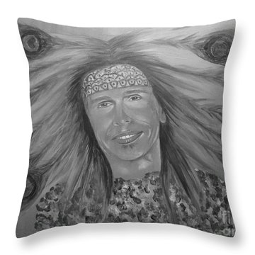 Steven Tyler Art Throw Pillow