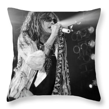 Steven Tyler In Concert Throw Pillow by Traci Cottingham