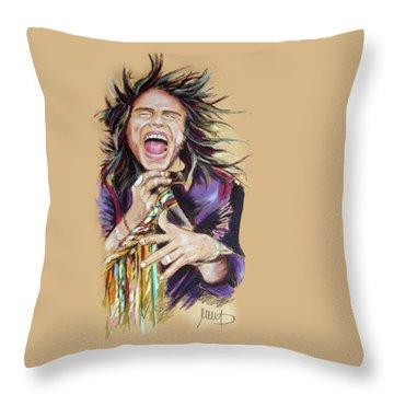 Steven Tyler Throw Pillow by Melanie D