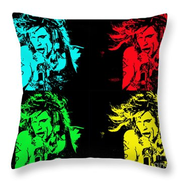 Steven Tyler Pop Art Throw Pillow