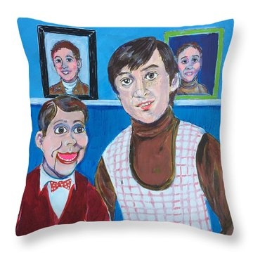 Stevie And Jerry Throw Pillow