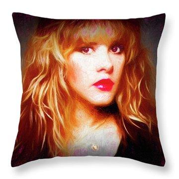 Stevie Nicks Drawing Throw Pillow