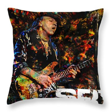 Stevie Ray Throw Pillow