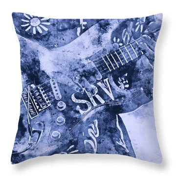 Stevie Ray Vaughan - 04 Throw Pillow