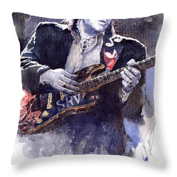 Stevie Ray Vaughan 1 Throw Pillow by Yuriy  Shevchuk