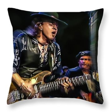 Stevie Ray Vaughan - Couldn't Stand The Weather Throw Pillow