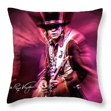 Stevie Ray Vaughan - Crossfire Throw Pillow