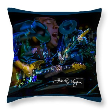 Stevie Ray Vaughan - Double Trouble Throw Pillow