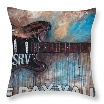 Stevie Ray Vaughan Double Trouble Throw Pillow
