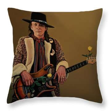 Stevie Ray Vaughan 2 Throw Pillow by Paul Meijering