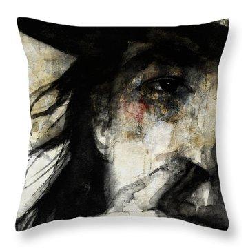 Stevie Ray Vaughan Retro Throw Pillow