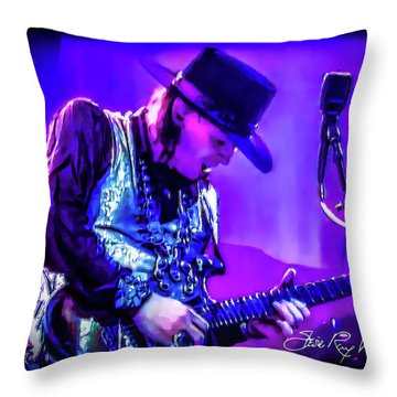 Stevie Ray Vaughan - Tightrope Throw Pillow