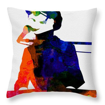 Stevie Watercolor Throw Pillow