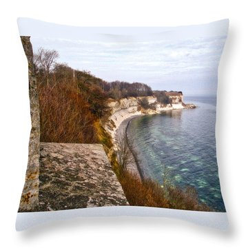 Stevns Klint Throw Pillow