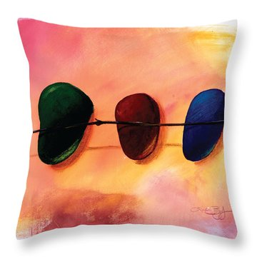 Stick And Stones Throw Pillow