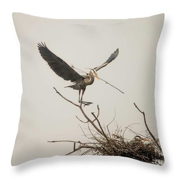 Throw Pillow featuring the photograph Stick Man by David Bearden