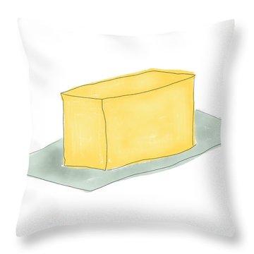 Stick Of Butter- Art By Linda Woods Throw Pillow