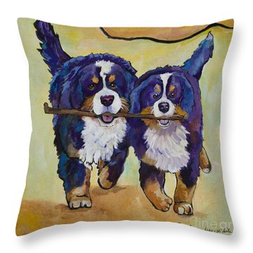 Stick Together Throw Pillow