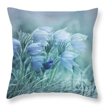 Stick Together Throw Pillow by Priska Wettstein