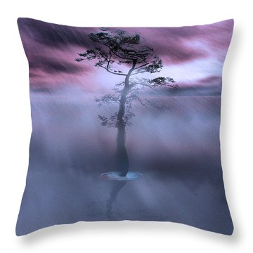Stick Together The Storm Will Pass Throw Pillow by Gray  Artus